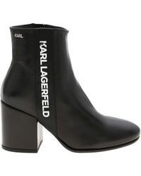 Karl Lagerfeld Karl Band Lavinia Ankle Boots - Black