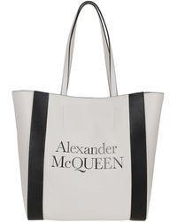 Alexander McQueen Signature Tote - White