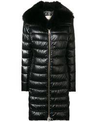 Herno Elisa Fur Trimmed Collar Padded Coat - Black