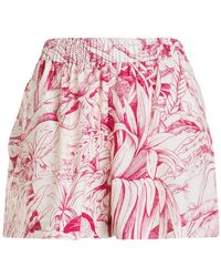 RED Valentino - Short in stampa giungla - Lyst