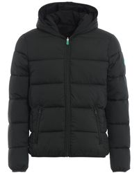Save The Duck Recycled Reversible Green Black Puffer Jacket