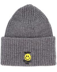 Philosophy Di Lorenzo Serafini Emoji Ribbed Knit Beanie - Gray