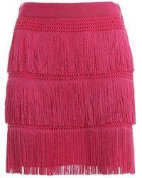 Alberta Ferretti Minigonna stile Charleston con frange - Multicolore