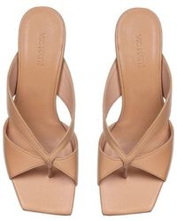Vic Matié Thong Sandals In Beige - Natural