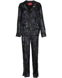 F.R.S For Restless Sleepers Completo-pigiama in seta - Nero