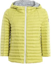Colmar Hooded Flared Puffer Jacket - Yellow