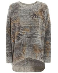 Avant Toi Cashmere Blend Over Sweater - Gray