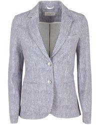 Circolo 1901 Striped Blazer - Blue