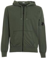 C.P. Company Felpa in cotone con cappuccio - Verde