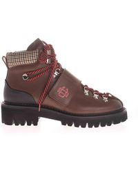 DSquared² - Dc Crest Ankle Boots In Brown - Lyst