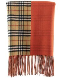 f679814fbd4 Colour Block Cashmere Scarf - Red