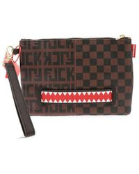 Sprayground - Black And Brown Clutch Bag - Lyst
