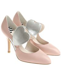 Lulu Guinness Cut-out Detailed Pumps - Pink