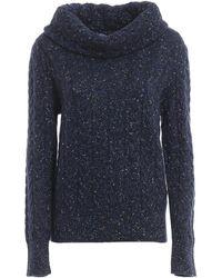 Blumarine Wool And Lurex Blend Sweater - Blue