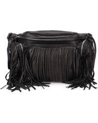 DSquared² Fringed Leather Bum Bag - Black