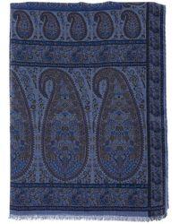 Etro Paisley Patterned Scarf - Blue