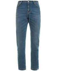 Versace Faded Denim Classic Jeans - Blue