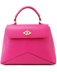 Ballantyne Diamond Hammered Leather Bag - Pink