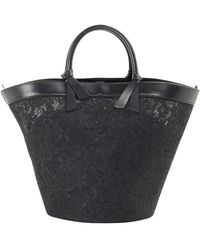 Ermanno Scervino Lace Detail Bucket Bag - Black