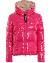 Pinko Fuchsia Polyamide Down Jacket - Pink