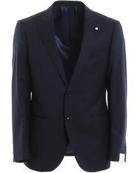 L.B.M. 1911 Pinpoint Wool Suit - Blue