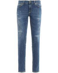 Dondup Jeans Tara in denim vissuto - Blu