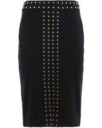 Michael Kors Studded Viscose Skirt - Black