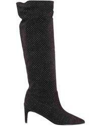 RED Valentino Valentino Garavani Embellished Suede Boots - Black