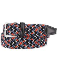 Andersons - Blue And Orange Stretch Woven Fabric Belt - Lyst