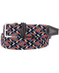 Anderson's Cintura elastica intrecciata blu e arancio