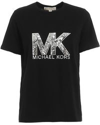 Michael Kors Sequined Logo T-shirt - Black