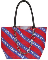 Alexander Wang Roxy Red Logo Jacquard Small Bucket Bag