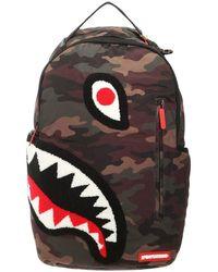 Sprayground Torpedo Shark Camouflage Backpack - Green