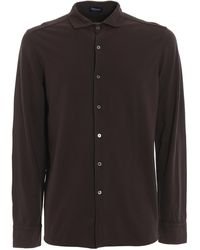Drumohr Pure Cotton Casual Shirt - Brown