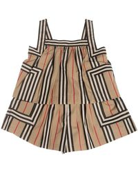 Burberry Florance Overalls In Archive Beige - Natural
