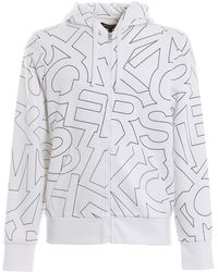 Michael Kors Printed Cotton Zip Hoodie - White