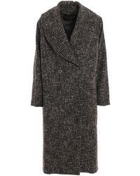 Fabiana Filippi Houndstooth Wool And Alpaca Coat - Grey