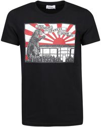 Dondup Japanese Print Cotton T-shirt - Black