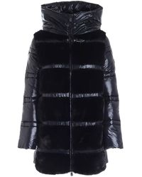 Save The Duck Faux Fur Detailed Padded Coat - Black