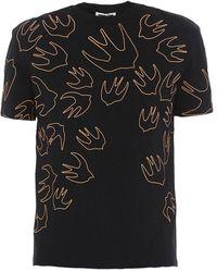 McQ Signature Swallow Print T-shirt - Black