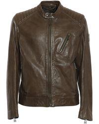Belstaff V Racer 2.0 Leather Biker Jacket - Green