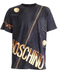 Moschino T-shirt Macro Biker nera - Nero