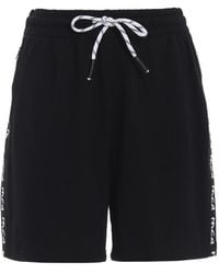 McQ Black Short Trousers With Logo Bands