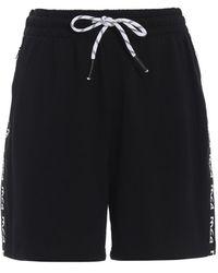 McQ Black Short Pants With Logo Bands