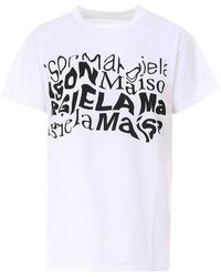 Maison Margiela - Printed Cotton T-shirt - Lyst