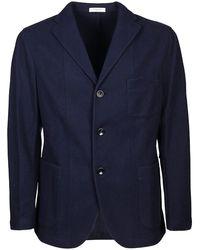 Boglioli Wool Cashmere Blend Jacket - Blue