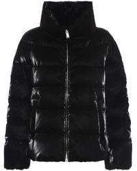 Add Patent Effect Short Puffer Jacket - Black