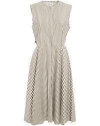 Woolrich Striped Sleeveless Dress - Green