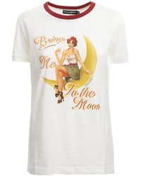 Dolce & Gabbana Bring Me To The Moon T-shirt - White
