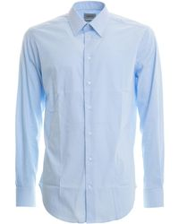 Armani Cotton Blend Modern Fit Shirt - Blue